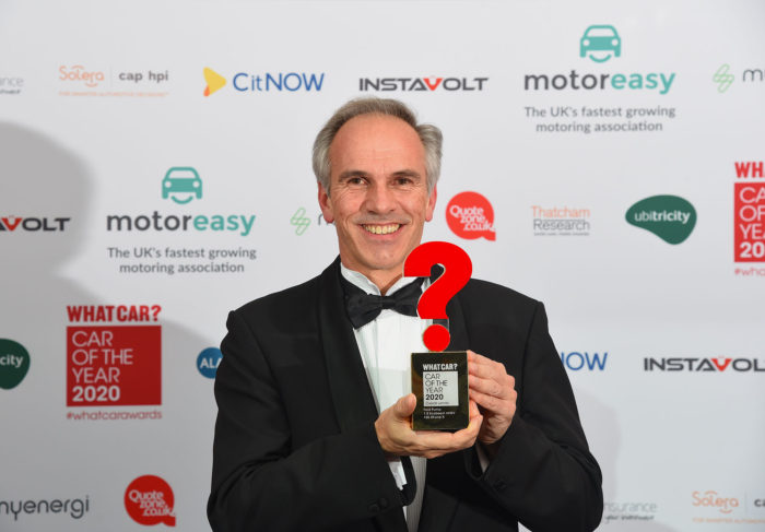 Roelant de Waard with What Car? award