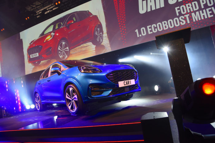 Ford Puma on stage at the What Car? Awards